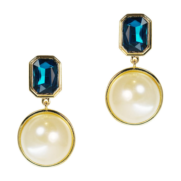 Sia Pearl Clip Earrings (Gold)