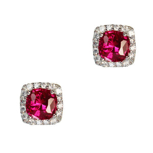 Stacy Earrings (Ruby)
