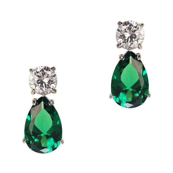 June Earrings (Emerald)
