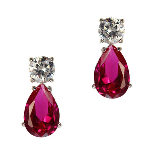 June Earrings (Ruby)