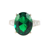 Emerald Imitation Diamond Ring