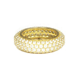 CZ Rings With White CZ Stones and Gold Plated Silver - Frances Eternity Ring