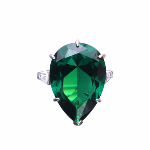Geneva Ring (Emerald/Rhodium)
