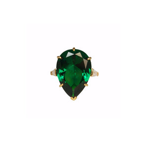 Geneva Ring (Emerald/Gold)