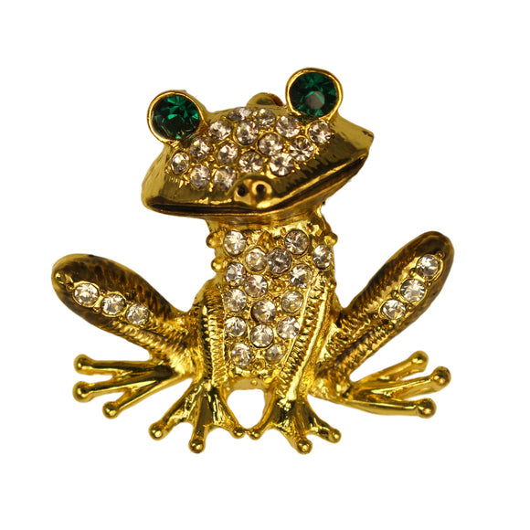 GOLD FROG BROOCH