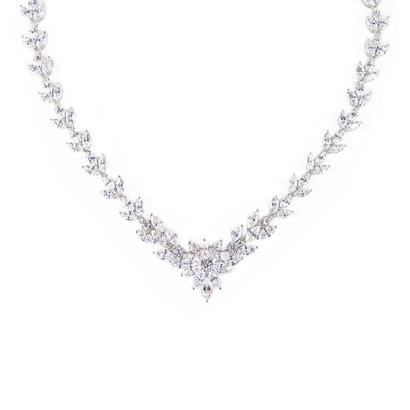 CZ Necklaces - Helena with Cubic Zirconia