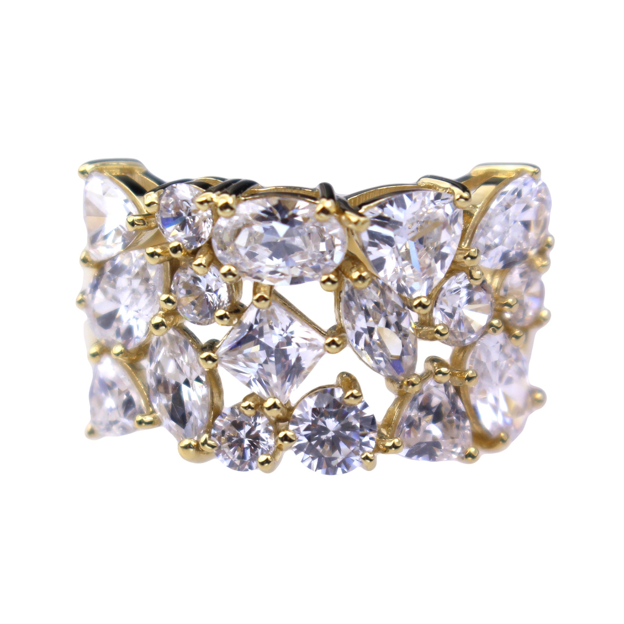 mvintage hollow gold ring