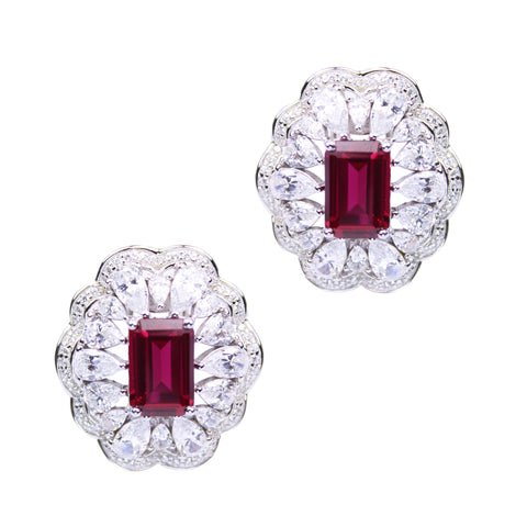 India Earrings (Ruby)