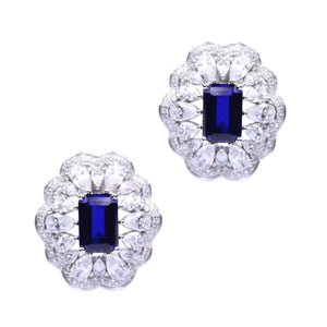 India Earrings (Sapphire)