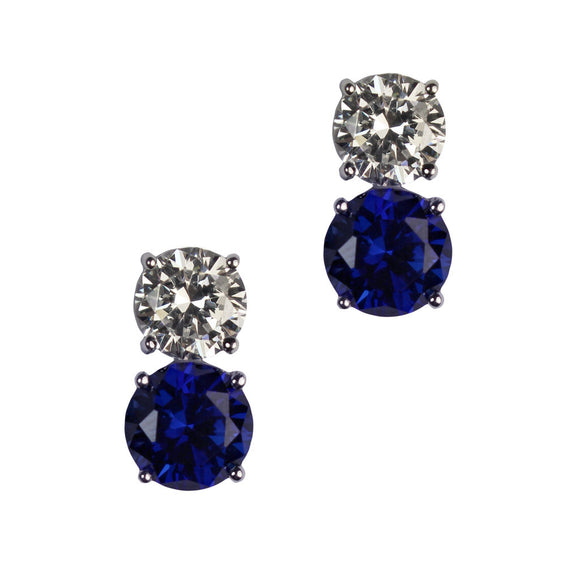 Jessica Earrings (Small Sapphire)