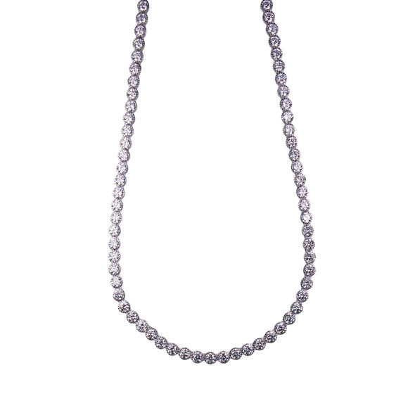 Julianna Necklace (Rhodium)