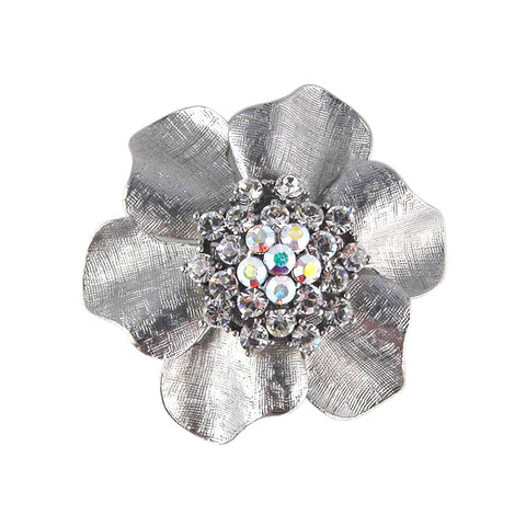 Katie Flower Brooch (Rhodium)