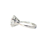 Veora Solitaire Ring (Rhodium, 13mm)