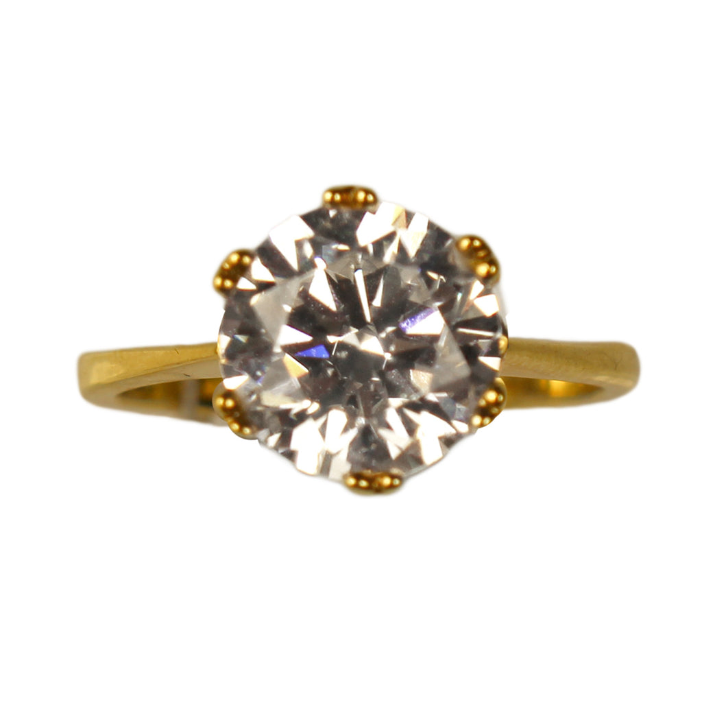 Veora Solitaire Ring (Gold, 10mm)