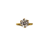 Veora Solitaire Ring (Gold, 13mm)
