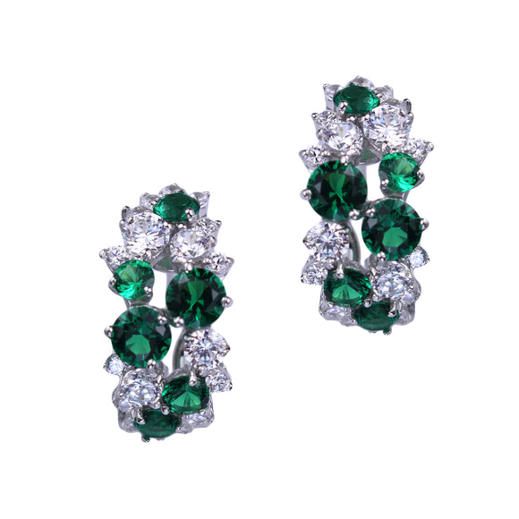 Livia Earrings (Emerald)