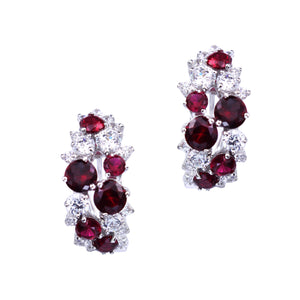 Livia Earrings (Ruby)