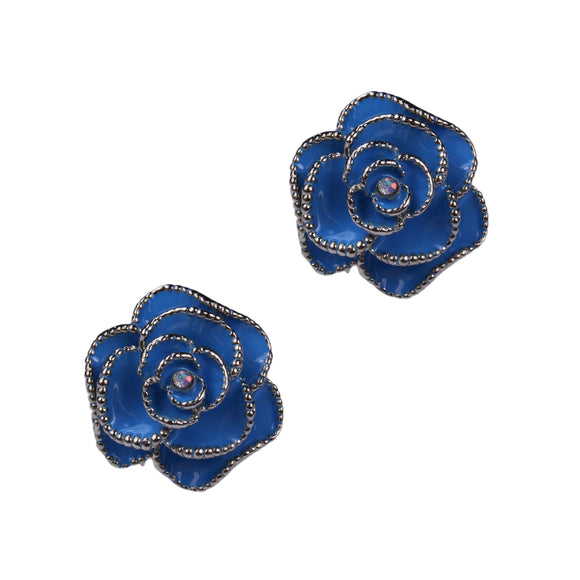 Lucina Clip Earrings (Blue)