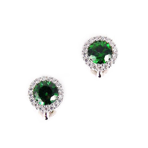 MARGOT CLIP EARRINGS (EMERALD)