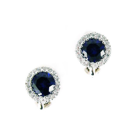 MARGOT CLIP EARRINGS (SAPPHIRE)