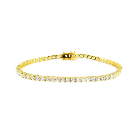 Martina Tennis Bracelet (Gold)