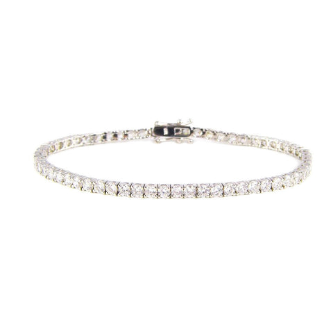 Martina Tennis Bracelet (Rhodium)