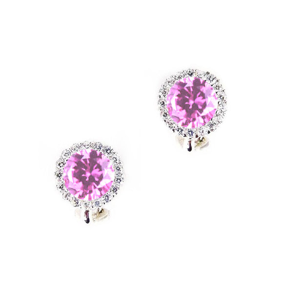 Margot Clip Earrings (Pink)