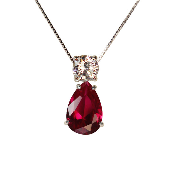 June Pendant (Ruby)
