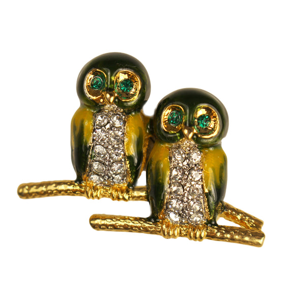 Owl Duo Brooch