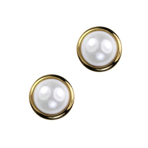 Sarah Pearl Clip Earring (Gold)