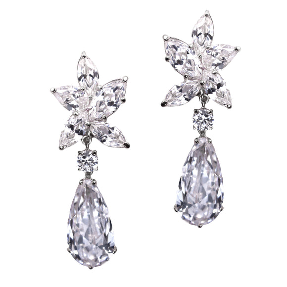 Trudy Earrings (Rhodium)
