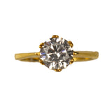Veora Solitaire Ring (Gold, 8mm)