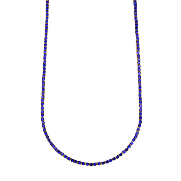 Vicky Necklace (All Sapphire)