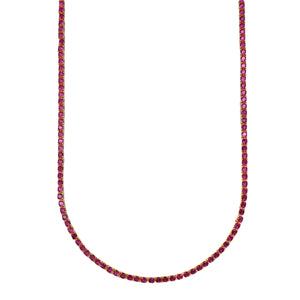 Vicky Necklace (All Ruby)