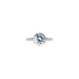 Veora Solitaire Ring (Rhodium, 7mm)