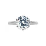 Veora Solitaire Ring (Rhodium, 8mm)