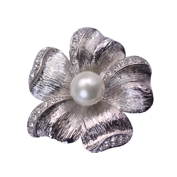 Anemone Brooch (Rhodium)