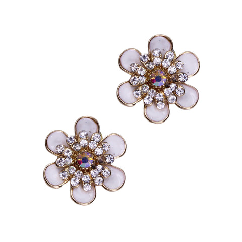 Cherish Clip Earrings (White)