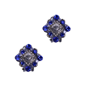 Courtney Clip Earrings (rhodium)