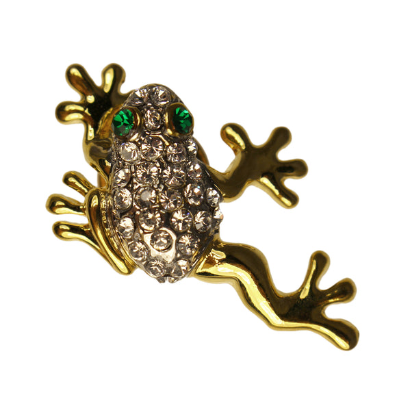 Crystal Tree Frog Pin