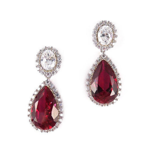 Lynette Earrings (Ruby/White)