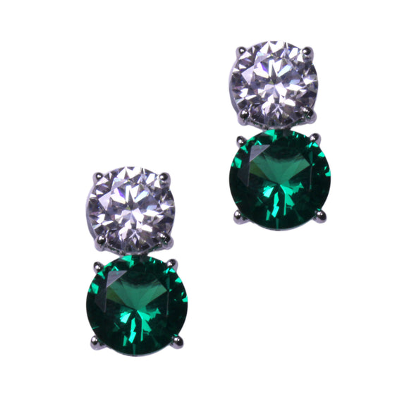 Jessica Earrings (Small Emerald)