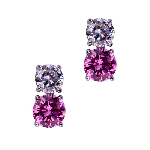 Jessica Earrings (Small Pink)