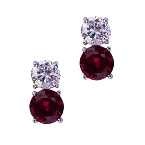 Jessica Earrings (Large Ruby)