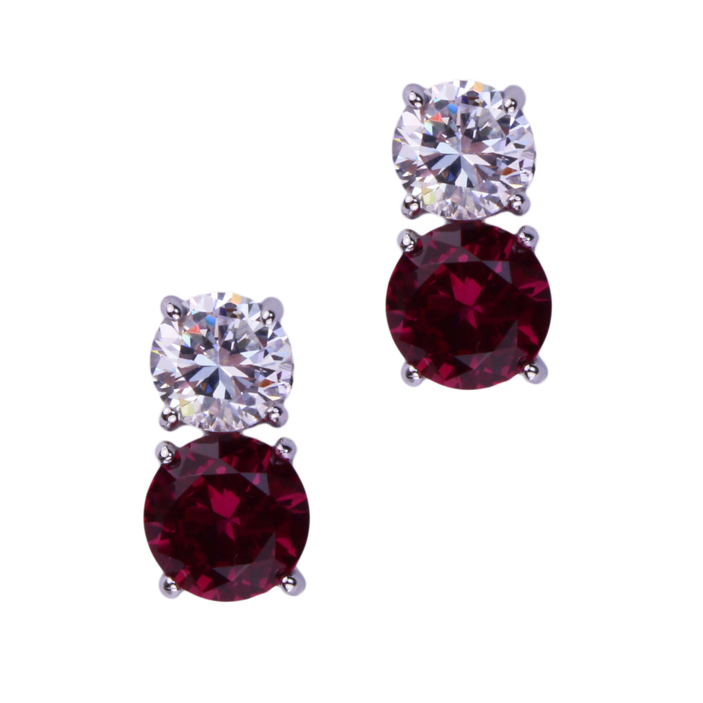 Jessica Earrings (Small Ruby)