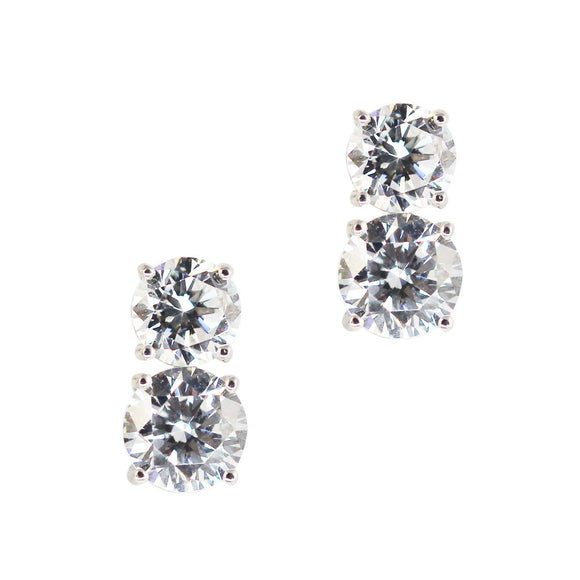 Jessica Earrings (Large Rhodium)