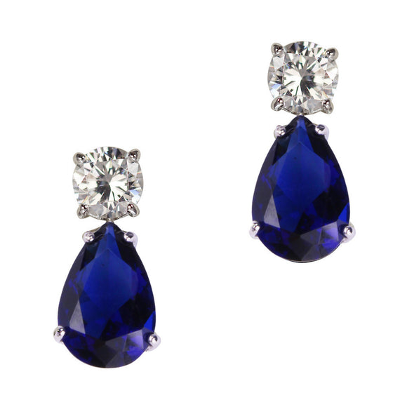 June Earrings (Sapphire)