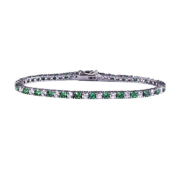 Martina Tennis Bracelet (Emerald)