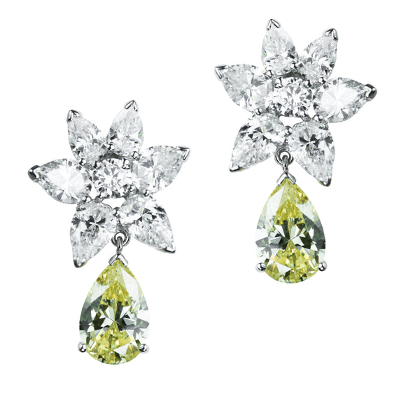 Geraldine Earrings (Canary)