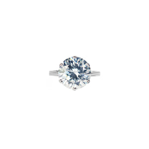 Veora Solitaire Ring (Rhodium, 12mm)